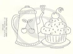 Redwork Tea & Cake