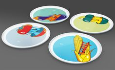 MyItaly Pizzaplates for Augarten Wien Augarten Wien, Dog Pop Art, Tableware, Dogs, Green, Dinnerware, Tablewares, Place Settings, Pet Dogs