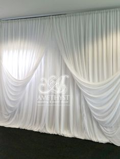 Triangle Draped Backdrop #wedding #drapings #curtains