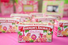 Lilly Pulitzer-designed animal crackers to benefit Operation Smile.
