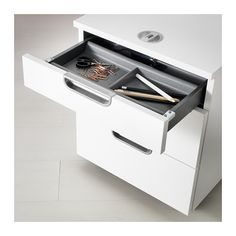 Lockable Office Supplies   Option 3   Clean And Modern, But Keys Can  Sometimes Go Missing Around Our House . . . | For The Home | Pinterest |  Drawer Unit, ...