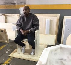 Back in the public eye: Kanye West made his first public appearance on Thursday since being released from UCLA Medical Center