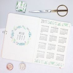 Today was the day of the Traveling Bullet Journal . I decided to copy my very first pages of 2017, because I really like them and there isn't a yearly overview in it already. Now let's thank Helen from @journalwithpurpose for organizing this awesome project. Thanks Helen, that I can be part of it. I can't wait to see the full book with pages from Bullet Journalers from all over the world ❤️. -- Today I sent the Traveling Bujo from Würzburg to Bremen, where @dianasoriat is waiting for it...