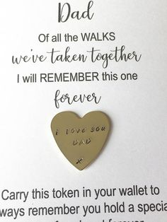 Father of the bride gift of all the walks gift dad pocket