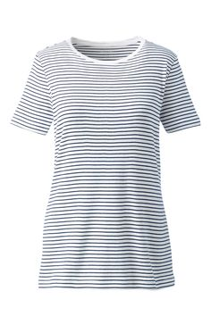 b185af51651b9 The perfect classic stripe crewneck tee - What every closet needs for  Spring. Lands  End