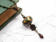 Valentine Lariat Necklace Beaded Jewelry by LittleBitsOFaith, $35.00