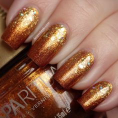 copper and gold glitter gradient