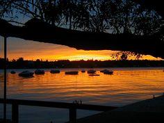 Sunset Skaneateles lake