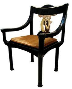 Art Deco chair by Eileen Gray. Eileen Gray, Art Deco Chair, Art Deco Furniture, Cool Furniture, Chaise Chair, Grey Armchair, Bauhaus, Cap Martin, Art Nouveau