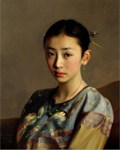 'The Daughter of Qing Dynasty'-2011, by Chinese Artist ~ Zhao Kailin ~