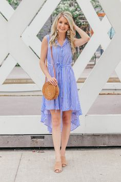 See how Prada & Pearls styles this Hi-Lo dress that's perfect for summer!