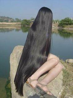 Long Natural Hair, Natural Hair Styles, Long Hair Styles, Long Black Hair, Very Long Hair, Beautiful Long Hair, Gorgeous Hair, Dyed Hair Purple, Rapunzel Hair