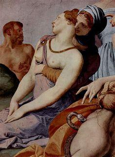 Bronzino (1503-1572)Agnolo Bronzino,The adoration of the bronze snake,(1540-1545), fresco,300х380 mm.Palazzo Vecchio Museum.Level Second floor,room Chapel of Eleonora of Toledo.Detail.