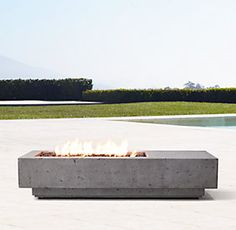Ixtapa Natural Gas Asymmetrical Rectangular Fire Table W x D x H