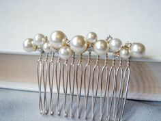 Pearl Bouquet Hair Comb