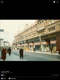 Jones and Higgins Department Store At The Bottom of Rye Lane Peckham South East London England in the Late London Pictures, Old Pictures, Old Photos, Vintage Photos, London History, Local History, Family History, Vintage London, Old London