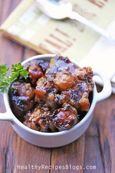 Strain the liquids from the slow cooker into a saucepan. Heat on medium heat…