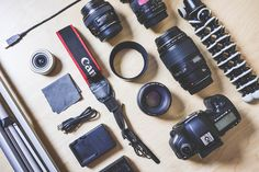 The Photographer's DSLR Camera Equipment Free Image Download