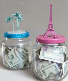 Honeymoon idea- Two honeymoon destinations: his choice, my choice. Whoever saves the most, gets to choose where we go.