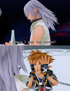 Kingdom Hearts 2. Sora and Riku. I just about died of laughter while playing this. It's one of those moments when it's all serious and someone does something goofy that's completely unexpected. You can always count on Sora to do that.