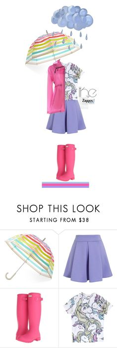 """Rain Drops'"" by dianefantasy ❤ liked on Polyvore featuring Kate Spade, Chicwish and Hunter"