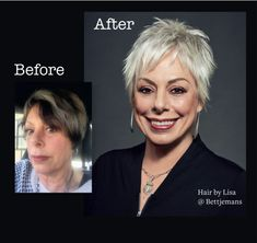 Over 50 Over 50 - Hair Beauty - maallure Long To Short Hair, Girl Short Hair, Short Hair Cuts, Short Hair Styles, Before After Hair, Before And After Haircut, Cute Haircuts, Girl Haircuts, Hairstyles Haircuts