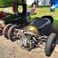 Properly, certifiably insane. #Morgan three wheeler at #ShelsleyWalsh