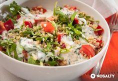 Bulgursaláta kefires öntettel Kefir, Cobb Salad, Tacos, Ethnic Recipes, Food, Bulgur, Essen, Meals, Yemek