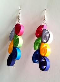 quilling earings multicolour