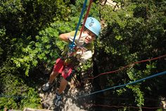 Going down! Rappeling 18 meters/6 ft at Aventuras Mayas in the jungle of the Riviera Maya.    www.aventurasmayas.com