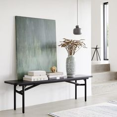 Use the Diagonal bench as a low console table with books and vases on display - and perhaps a small wooden elephant on top. Diagonal is designed by Nunu elephant is designed by Steffen Juul Low Console Table, Dining Table, Dining Room, Objet Deco Design, Small Pendant Lights, Danish Design Store, Muuto, Wooden Elephant, Wholesale Home Decor