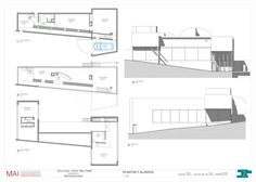 VILLA DALL'AVA - Lara del Rey Revit Architecture, Amazing Architecture, Rem Koolhaas, Interior Sketch, Villa, Floor Plans, Flooring, How To Plan, House