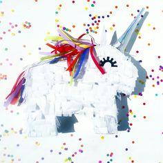 Mini rainbow unicorn pinata