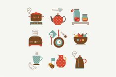 Check out Vector breakfast icons by vectorprro on Creative Market