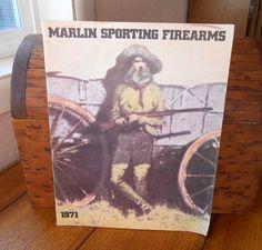 Marlin Sporting Firearms Catalog Vintage 1971 Fabulous Western Artwork and Guns