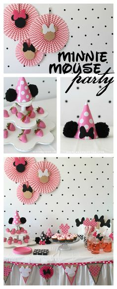 This Minnie Mouse party is too cute!