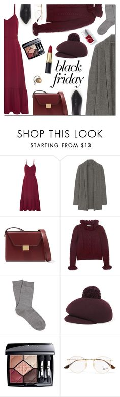 """Steal Those Deals: Black Friday"" by danielle-487 ❤ liked on Polyvore featuring CO, The Elder Statesman, Victoria Beckham, See by Chloé, Falke, Eugenia Kim, Christian Dior, Ray-Ban, Couture Colour and blackfriday"