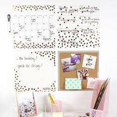 Gold Confetti Organization Kit