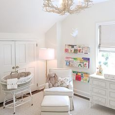 Beautiful clean white nursery