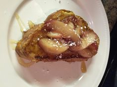 Home made caramelized peach French toast