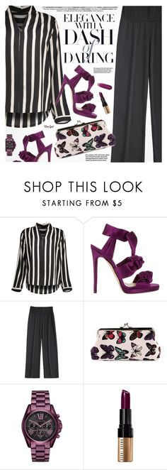 """""""After Dark: Party Outfits"""" by pokadoll ❤ liked on Polyvore featuring Jimmy Choo, Michael Kors and Bobbi Brown Cosmetics"""