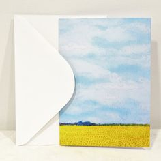 Blank Greeting Card No.1 with Envelope Featuring Images of Prairie Threadpaintings Embroidered by Monika Kinner-Whalen