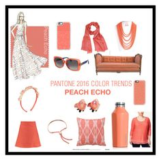 """Pantone 2016 COLOR TRENDS: PEACH ECHO"" by pearlana-jewelry ❤ liked on Polyvore featuring JM Collection, Corkcicle, Monica Vinader, Casetify, Fendi, Chloé and plus size clothing"