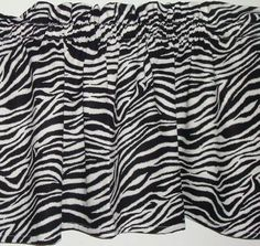 Zebra Print Fabric Valance Curtain Kids Room or Classroom Window Treatment for sale online Zebra Curtains, Kids Curtains, Valance Curtains, Zebra Print, Animal Print Rug, Classroom Window, Kitchen Valances, Printing On Fabric, Room Stuff