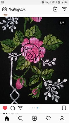 Cross Stitch Designs, Cross Stitch Patterns, Diy Crafts Hacks, Dandelion, Instagram, Beadwork, Tela, Hand Embroidery Stitches, Crocheting Patterns