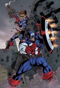 Captain America and Bucky by?