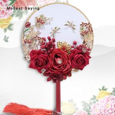 Find More Wedding Bouquets Information about Chinese Red Artificial Flowers Wedding Bouquets 2018 with Rhinestone Bridal Bouquets Fan Wedding Accessories bouquet de mariage,High Quality Wedding Bouquets from modest saying Lacebridal Store on Aliexpress.com Wedding Fans, Red Wedding, Wedding Ideas, Silk Peonies, Peony, Cheap Wedding Bouquets, Bridal Bouquets, Wedding Dresses, Bling Bouquet