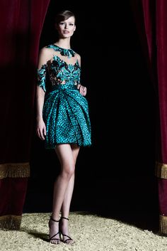 Turquoise dots  in a skirt-amazing!  Zuhair Murad - Pre-Fall 2015 - Look 20 of 28
