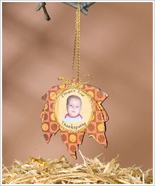 """Create a """"First Thanksgiving"""" ornament to show off what you're thankful for this year!"""