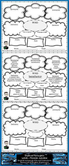 Vocabulary Analysis Graphic Organizers